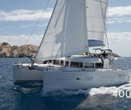 Catamaran Lagoon 400 S2 available for charter in Cannigione Marina