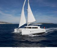 Catamaran Lagoon 420 available for charter in Volos Harbour