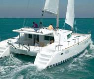 Cat Lagoon 440 available for charter in Marina di Olbia