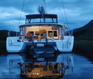Catamaran Lagoon 450 for hire in Tromso Harbour