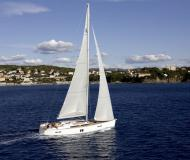 Sailing yacht Hanse 495 available for charter in Jezera
