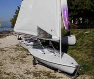 Laser Sailboat for rent Brenzone