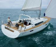 Sailing yacht Oceanis 45 available for charter in Skiathos main Harbour