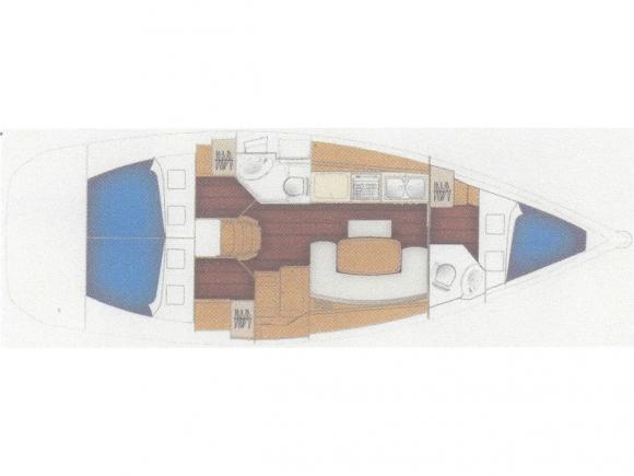Segelyacht Cyclades 39.3 in Bodrum Marina Milta leihen-35128-0