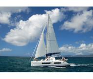 Cat Catana 41 for hire in Uturoa Marina