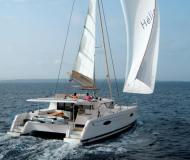 Cat Helia 44 for hire in Marina Le Marin