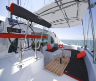Cat Lagoon 380 available for charter in Palm Cay Marina