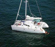 Catamaran Lagoon 380 for hire in Lefkas Marina