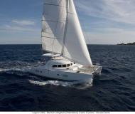 Catamaran Lagoon 380 available for charter in Gouvia Marina