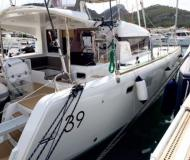 Catamaran Lagoon 39 available for charter in Marigot Bay Marina