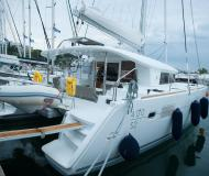 Cat Lagoon 400 S2 for charter in Nikiti Marina