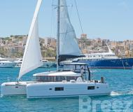 Cat Lagoon 42 available for charter in Port Lavrio
