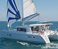 Catamaran Lagoon 421 available for charter in Marine Betina