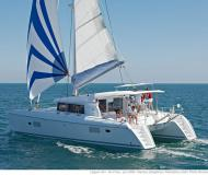 Catamaran Lagoon 421 available for charter in Marina San Antonio
