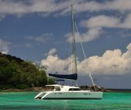 Cat Lagoon 440 available for charter in Eden Island Resort