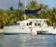 Catamaran Lagoon 440 for hire in True Blue Bay Marina