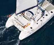 Cat Lagoon 440 for charter in Cannigione Marina