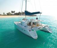 Cat Lagoon 440 available for charter in Port Olimpic Marina
