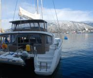 Cat Lagoon 450 available for charter in Tromso Harbour