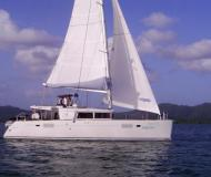 Catamaran Lagoon 450 for charter in Gouvia Marina