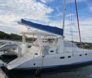 Cat Leopard 43 available for charter in Marigot Bay Marina