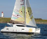 Cat Lipari 41 for charter in Maya Cove