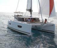 Cat Lucia 40 available for charter in Portoferraio