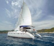 Catamaran Privilege 465 for hire in Netsel Marmaris Marina