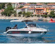 Motor boat Bluline 23 Sundeck available for charter in Rabac