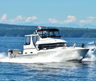Motoryacht Carver 404 Cockpit Yachtcharter in Vancouver