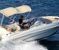 Motor boat Flyer 550 Sun Deck available for charter in ACI Marina Trogir