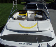 Motor boat Four Winns 200 SS available for charter in Granville Island Boatyard