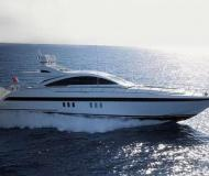 Motor yacht Mangusta 80 for rent in Borgo Marina
