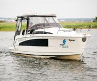 Motor boat Titanium 818 available for charter in Wilkasy Marina