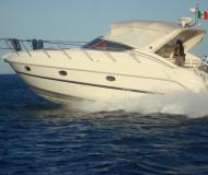 Motor yacht Zaffiro 34 for rent in Gouvia Marina
