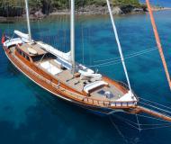 Segelboot Gulet Yachtcharter in Bodrum Marina Milta