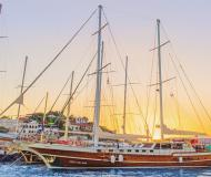Yacht Gulet Yachtcharter in Bodrum Marina Milta