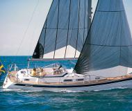 Sail boat Hallberg Rassy 37 for rent in Marina Burgtiefe