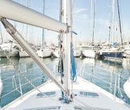 Sailing boat Oceanis 343 available for charter in Skiathos main Harbour