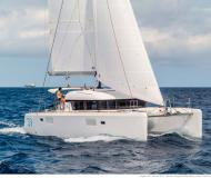 Cat Lagoon 39 for hire in Palm Cay Marina