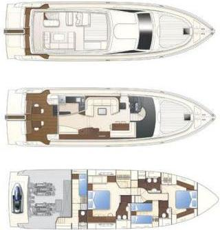 Motorboot Ferretti 630 in Marina Hramina chartern-30999-0