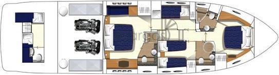 Motorboot Princess 62 in Split leihen-30923-0