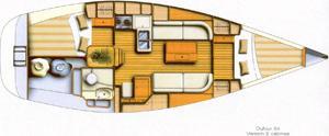 Sail boat Dufour 34 for rent in Castiglione della Pescaia-21888-0