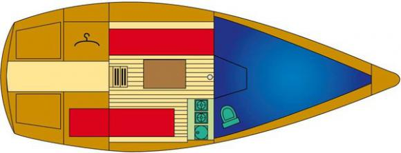 Segelyacht Friendship 22 Free in Marina Maran leihen-30953-0