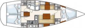 Yacht Hanse 370 in Netsel Marmaris Marina leihen-28300-0