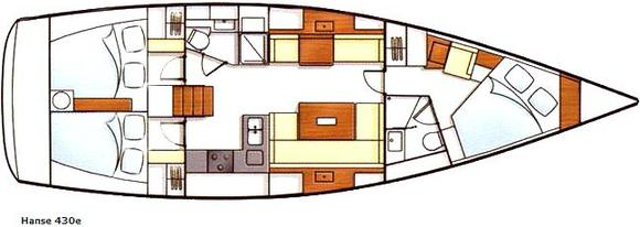 Sailing boat Hanse 430e for hire in Heiligenhafen Yachtharbour-28138-0