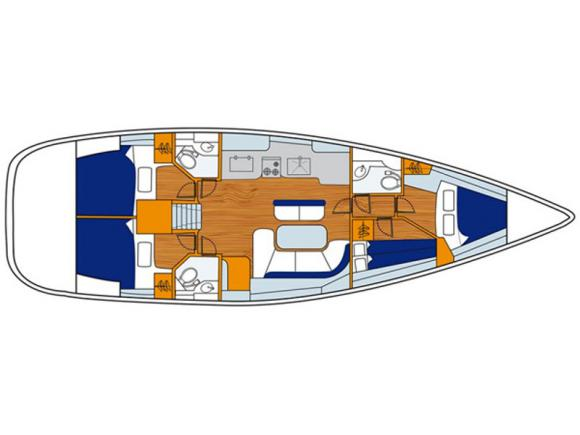 Segelyacht Oceanis 473 Clipper Yachtcharter in Cecina Marina-29147-0