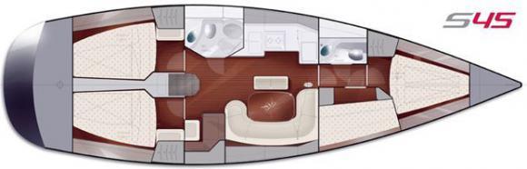Yacht Salona 45 Performance in Split chartern-71182-0