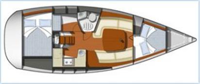 Yacht Sun Odyssey 32i in Sibenik chartern-71669-0