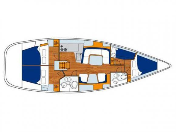 Yacht Sun Odyssey 43 chartern in Marina di Scarlino-28789-0